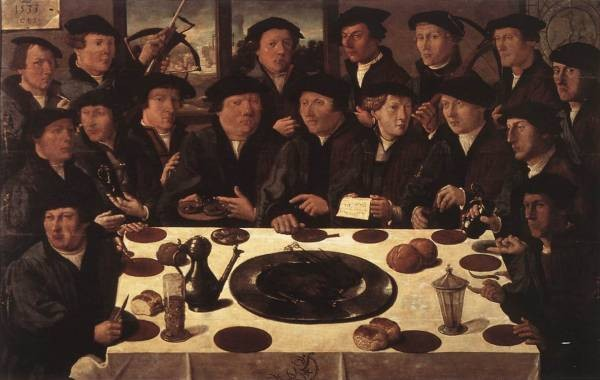 Banquet Of Members Of Amsterdams Crossbow Civic Guard